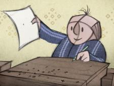 Bogstavbørn (Falling Letters) (short film, 4′)